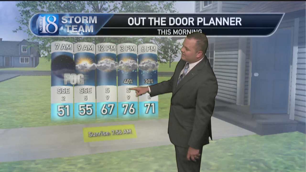 Image for October 13, Wednesday Morning Weather Forecast