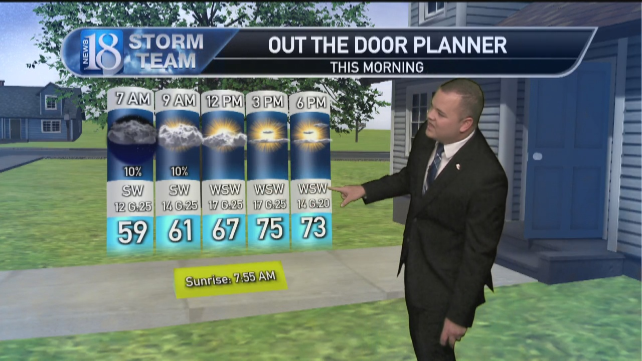 Image for October 12, Tuesday Morning Weather Forecast