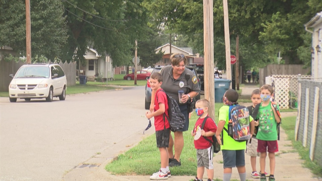 Image for Kids enjoy the first week of the Safe Routes to School Program in Terre Haute