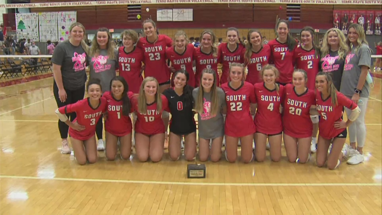 Image for THS volleyball wins Spike Trophy