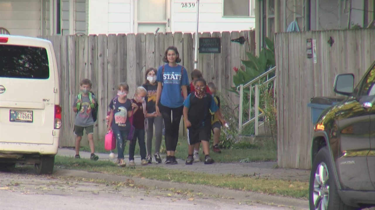 Image for ISU honor students walk kids to school in a new program at Fuqua