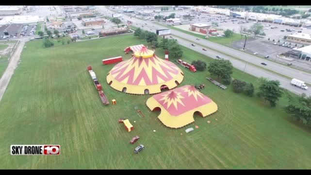 Image for SKY DRONE 10: Zorah Shrine Circus has made it to Terre Haute
