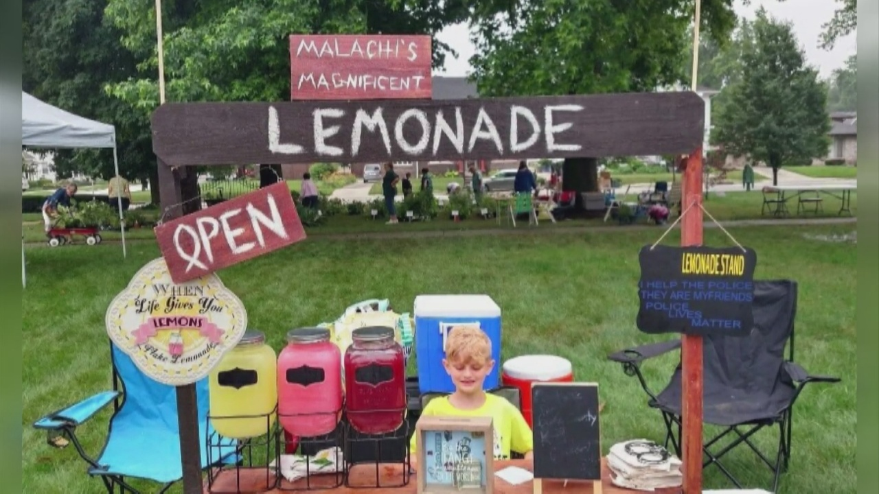 Image for 9-year-old boy uses lemonade to raise money for Ferency family