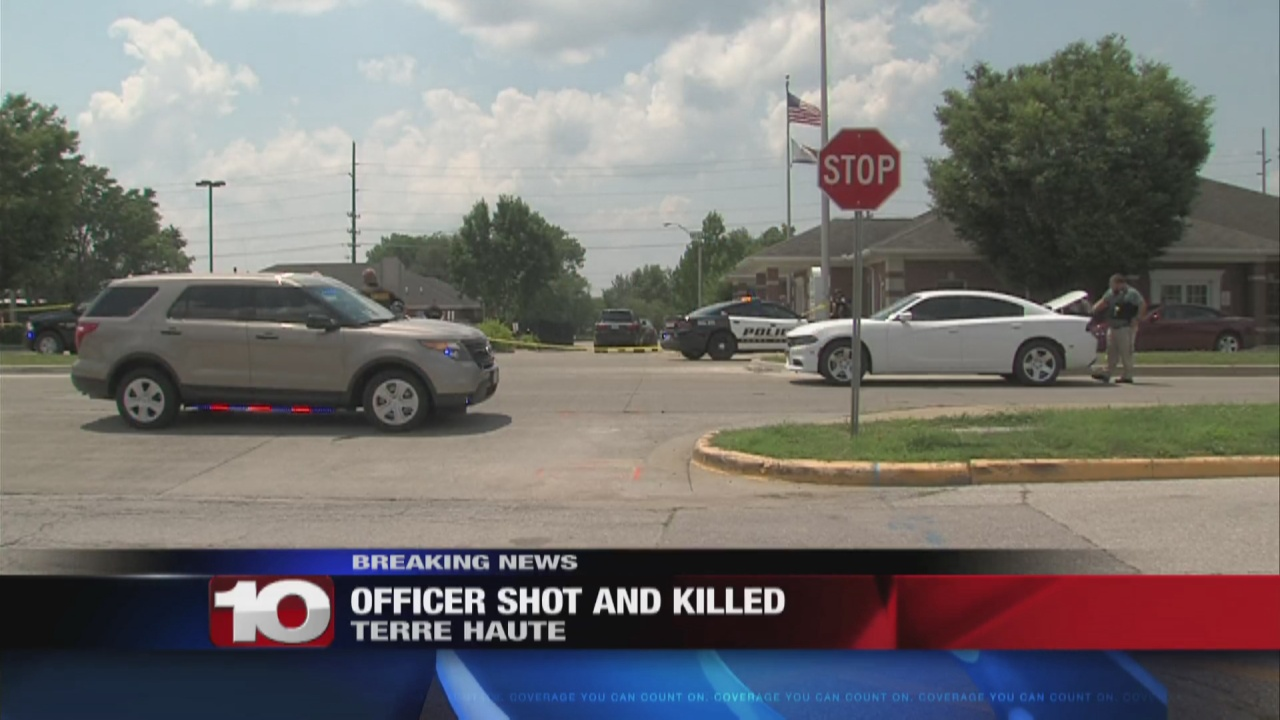Image for 6 PM Update |  Terre Haute officer killed in downtown Terre Haute as Regional Hospital parking lot turns to crime scene