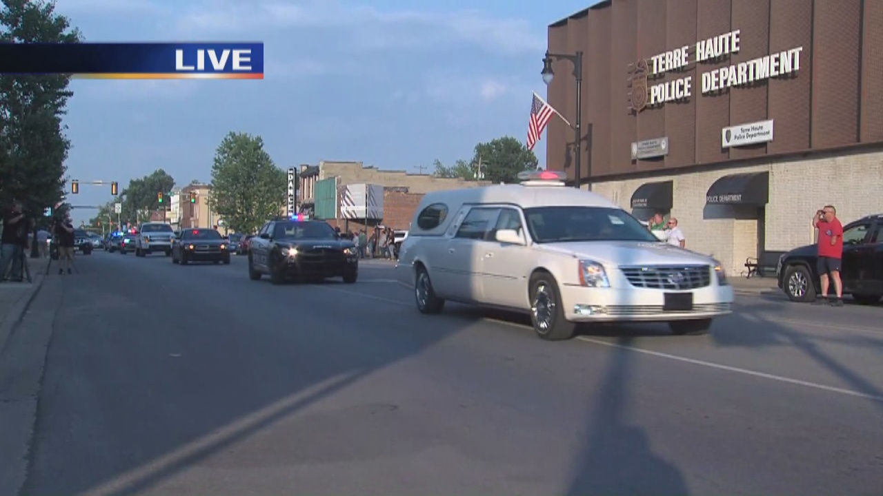 Image for Procession for the fallen Terre Haute Police Officer
