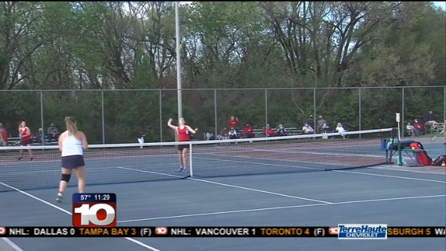 Image for TH South girls tennis beats THN for 10th straight time