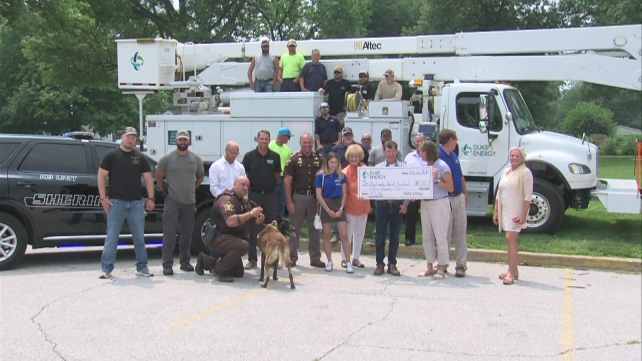 Image for Duke Energy makes donation to Vigo County Sheriff's Office