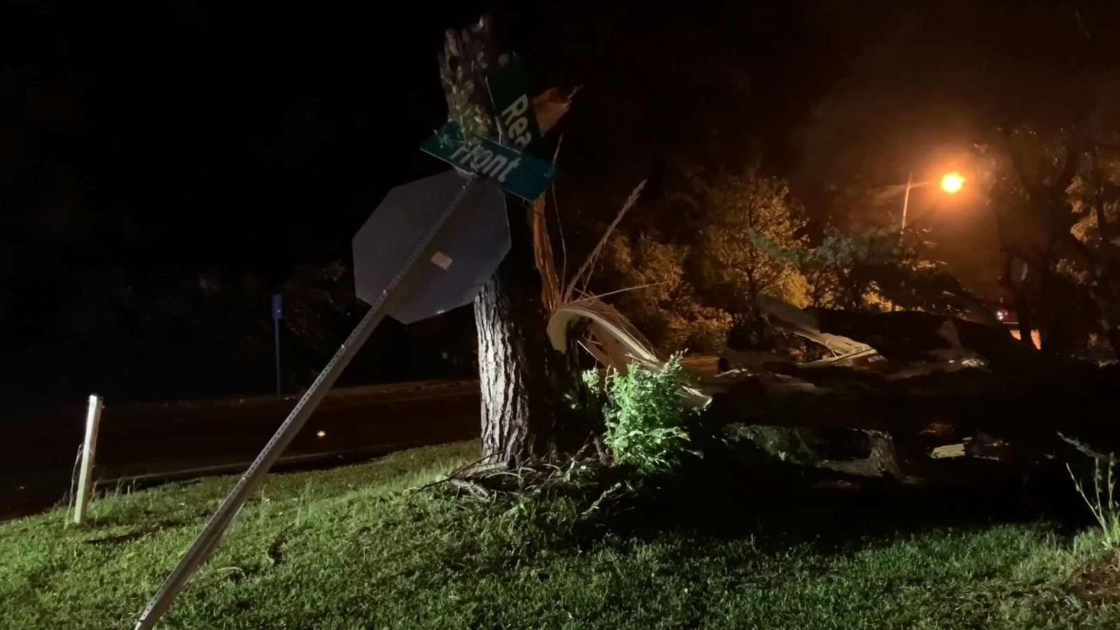 Image for VIDEO: Tornado damage from the Park Hill neighborhood in Tupelo