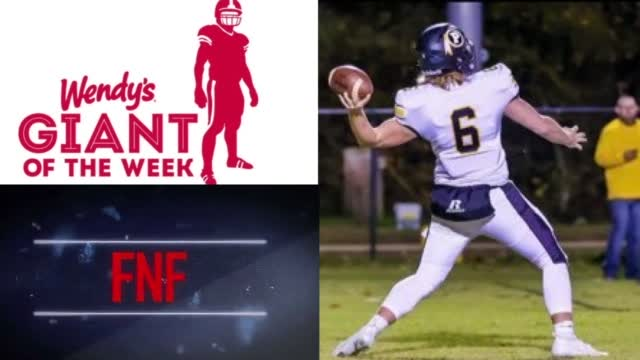 Image for Wendy's Giant of the Week - Sept. 2: Pontotoc QB Conner Armstrong
