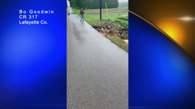 Image for VIDEO - Culvert slips out from roadway in Lafayette County