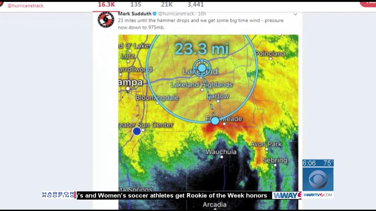 Wilmington Hurricane Tracker Experiences Eye Of Irma WWAY TV - Wway radar