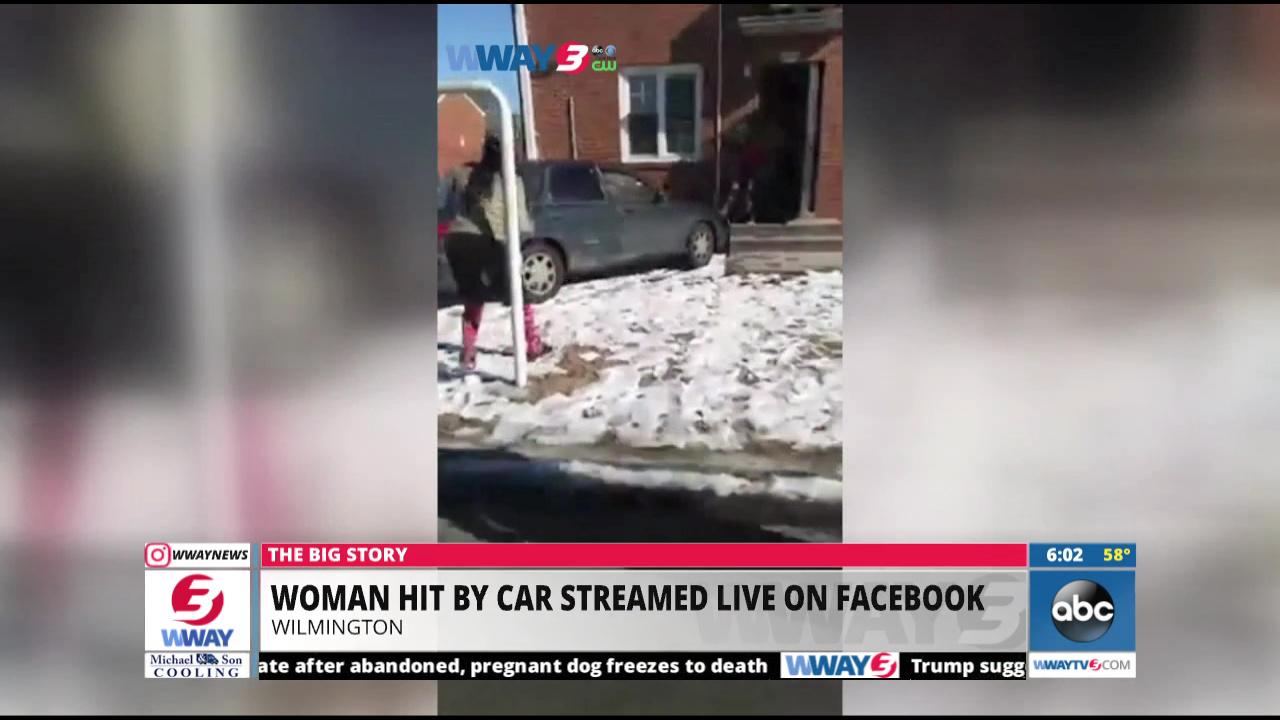 WPD Woman Hit By Car Streamed Live On Facebook - Wway radar